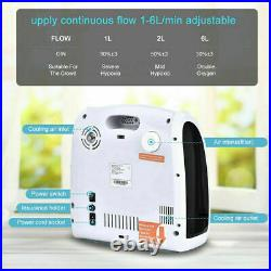 0-xy Concentrator 1-6L/min Adjustable Portable 0-xy Machine Home & Travel Use