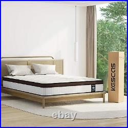 10 Inch Full Size Mattress Coil Spring Support Firm Bed For Back Pain Relief