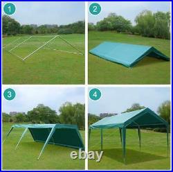 10'X20' Heavy Duty Carport Car Canopy Garage Shelter Tent, 4 Adjustable Heights