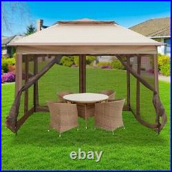 10x10 Pop Up Canopy Gazebos Tent Mesh Sidewall Height Adjustable Outdoor Party