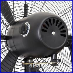 120V Height Adjustable Industrial Oscillating Pedestal Fan Stand Floor 3 Speed