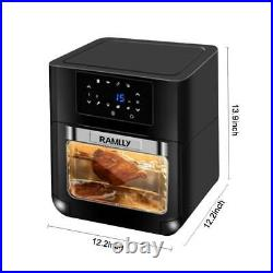14QT 1700W Electric Air Fryer Oven with Rotisserie OilLess Oven Touchscreen