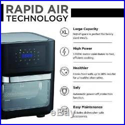 14 Quart Air Fryer Oven 1700W Air Fryer Oven with Rotisserie, Dehydrator Oven