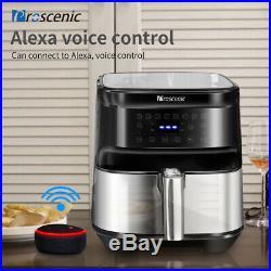 1700W Alexa Air Fryer Electric Hot Air Cooker 5.8QT Oil Free LED Oven 8 Presets