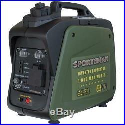 1,000-Watt/800-Watt Gasoline Powered Portable Inverter Generator with Parallel C
