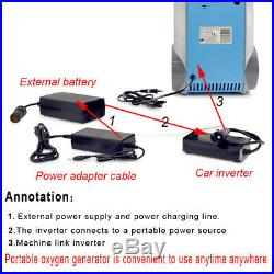 1-5L/Min Adjustable Portable O2 Generator O2 Concentrator Travel Air Purifier