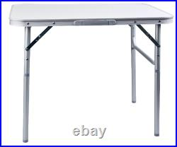 2.5ft Aluminium Portable Adjustable Folding Table Camping Outdoor Picnic Party