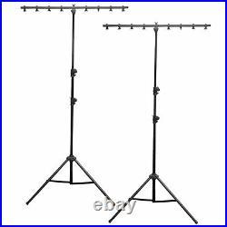(2) Chauvet CH-06 Lightweight Portable T Bar Tripod Adjustable Lighting Stands