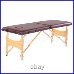 2-Fold Massage Table Adjustable Facial SPA Bed Tattoo Chair with Free Carry Case