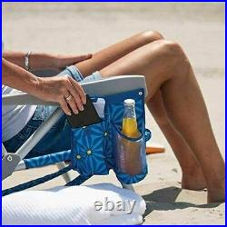 2 PACK Tommy Bahama Backpack Beach Folding Deck Chair Blue Flower 2020 NEW