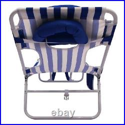 2 Pack Folding Backpack Face-down Beach Lounge Chair Portable Camping Outdoor