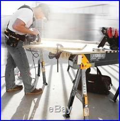 2-Pack Toughbuilt Steel SawHorse Adjustable Portable Folding Pair Heavy-Duty