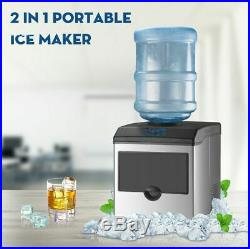 2in1 Built-In Electric Ice Maker Machine Water Dispenser Countertop 5 Gallon