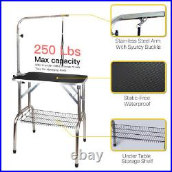 30'' Heavy Duty Portable Pet Dog Cat Profession Dog Show Fold Grooming Table