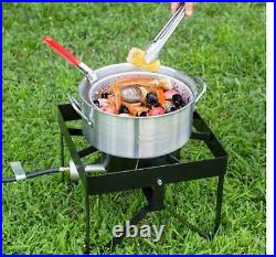 30 Qt Deluxe Aluminum Turkey Deep Fryer Kit Steamer Stock Pot Propane LP Outdoor