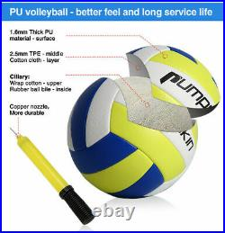 32X3FT Professional Volleyball Net Set Adjustable Height with Poles Ball Pump