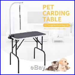 32 Heavy Duty Portable Grooming Table Dog Cat Pet withAdjustable Arm&Noose Large
