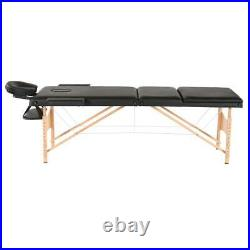 3 Foldable Massage Table Facial SPA Bed Tattoo Height Adjustable Massager Chair