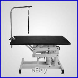 42.5''Steel Z-Lift Adjustable Hydraulic Pet Dog Grooming Table With Arm & Noose