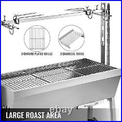 42'' 88 Lbs Stainless Lamb Roaster Rotisserie Spit 18W BBQ Trotter Pig Goat