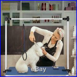 46'' Heavy Duty Pet Dog Cat Foldable Grooming Table Adjustable Arm Noose Tray