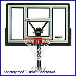 46 Inch Basketball Hoop Portable Adjustable Backboard Outdoor Goal System Kids