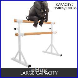 4FT Ballet Barre Portable Double Bar Freestanding Stretch Dance Bar Adjustable