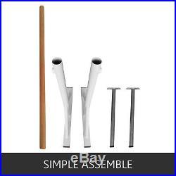 4Ft Ballet Barre Bar Freestanding Smooth Pine Adjustable Exercise Leg Stretch
