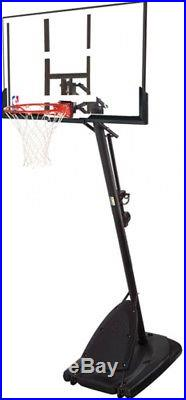 54 in. Spalding Portable Basketball System Adjustable Hoop Backboard Net Pole