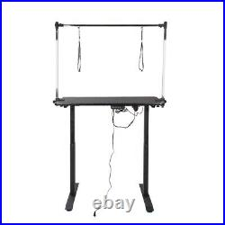 55 Electric Lift Large Pet Grooming Table Adjustable Heavy Duty WithArm&Noose