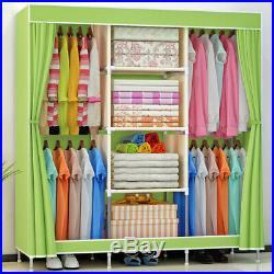 69'' Portable Closet Wardrobe Clothes Heavy Duty Large Space Storage Organizer