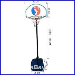 6FT Adjustable Kids Basketball Hoop Stand Portable Indoor Outdoor Net Goal