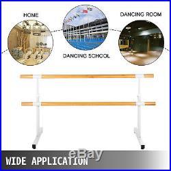 6.5FT Ballet Barre Freestanding Bar Double Leg Stretch Dance Training Adjustable
