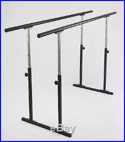 6.5ft Double Ballet Barre Stand Adjustable 31-49, 300 lb Wt Capcity, Pilate