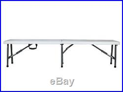 6' Portable Plastic Indoor & Outdoor Picnic Party Camping Dining Folding Bench