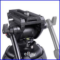 71 DV Video Camera Adjustable Tripod Stand Fluid Pan Head Portable Travel