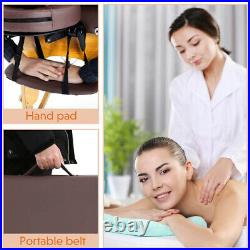 84'' 2-Fold Massage Table Bed Facial Spa Bed Adjustable Portable Salon Coffee