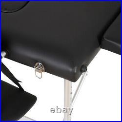 84''L Aluminium Massage Table 3 Fold Adjustable Portable SPA Beauty Bed Salon