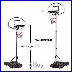 8ft Adjustable Basketball Hoop Goal Stand Backboard Kids Portable Indoor Outdoor
