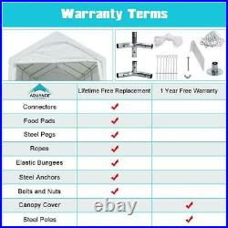 Adjustable 10x20 Heavy Duty Carport Car Canopy Storage Garage Shed Boat Shelter