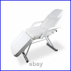 Adjustable Folding Massage Table Facial Bed Salon Barber Spa Tattoo Chair White