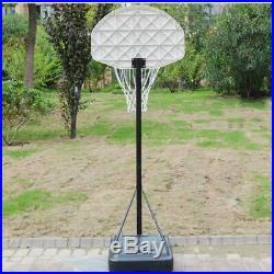 Adjustable Outdoor Basketball Hoop Stand Kids Junior Game Sports Portable Wheels
