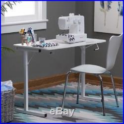 Adjustable Sewing Table Machine Folding Storage Craft Desk White Portable