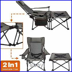Asteri Camping Chairs Folding Reclining Portable Chair with Cup Holder