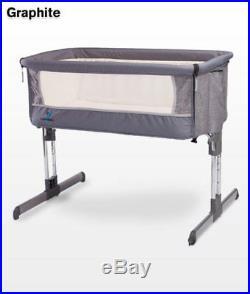 BABY Crib Bedside Cot bed with Mattress Caretero Sleep2gether Adjustable Height
