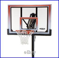 BASKETBALL HOOP BACKBOARD SYSTEM In-Ground Outdoor Portable Game Goal Adjustable