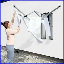 BRABANTIA WALL FIX FOLD AWAY 24M CLOTHES LINE With STORAGE BOX WALL MOUNT WASHING