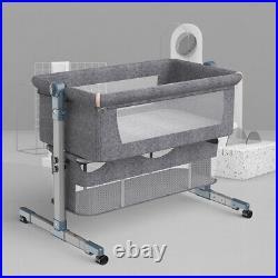 Baby Bed Side Sleeper Infant Bassinet Crib Adjustable Heights Portable