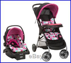 Baby Girl Travel Stroller Infant Car Seat Set Portable Lightweight Adjustable