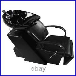 Backwash Barber Shampoo Chair Ceramic Bowl Sink Unit Station Salon Spa Equipment
